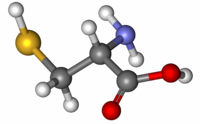 Cysteine ball-and-stick